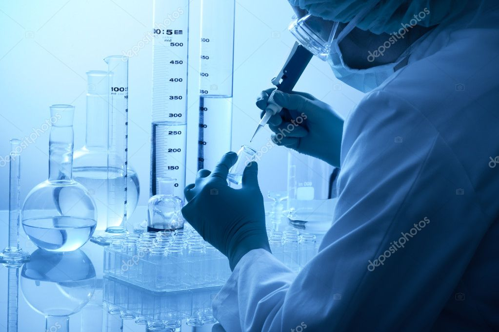 Laboratory technician at the work  — Stock Photo #6858560