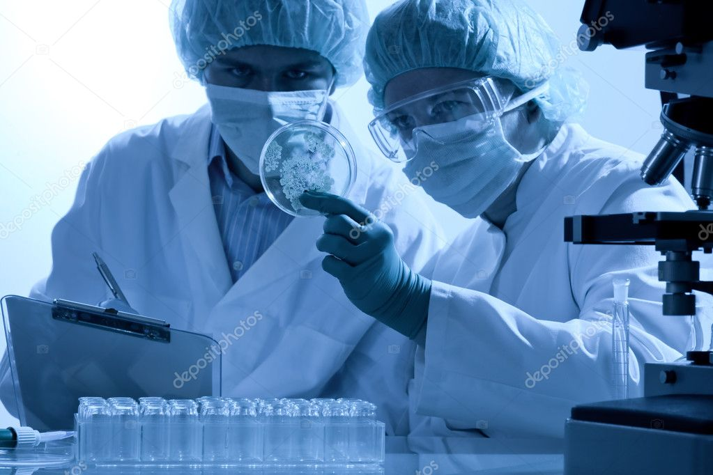 Scientists working at the laboratory  — Stockfoto #6858597