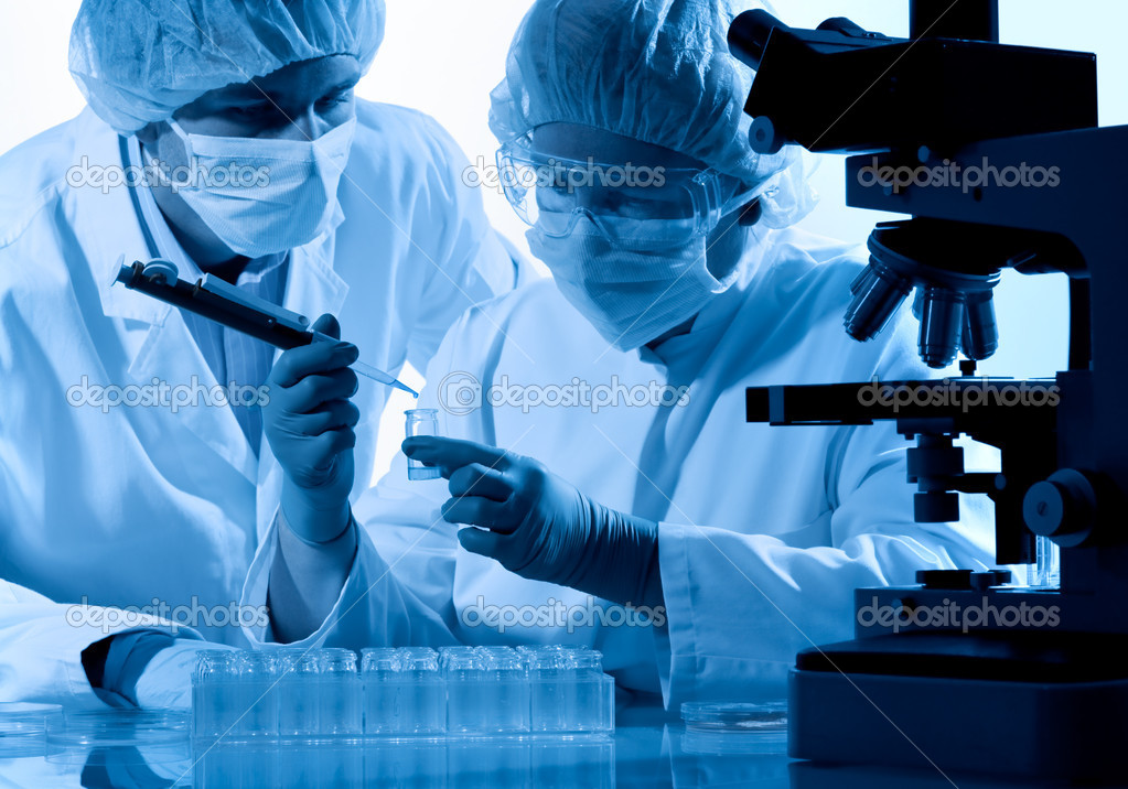 Scientists working at the laboratory  — Stock Photo #6858652
