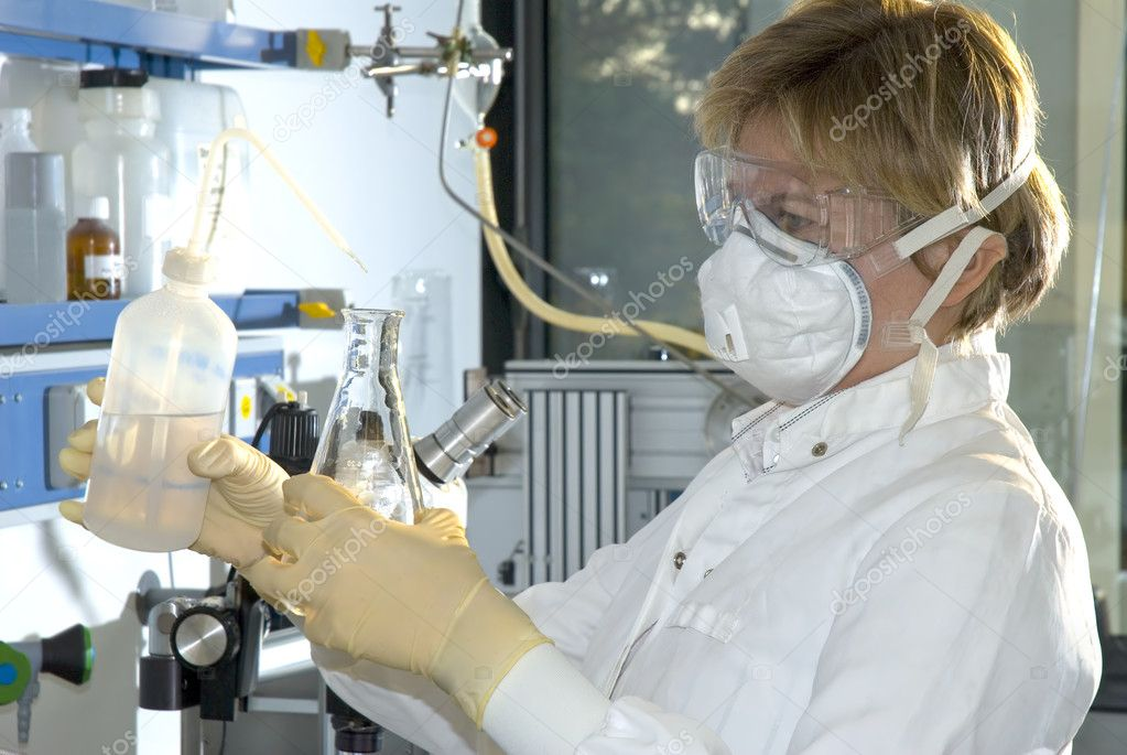 Scientist working at the laboratory  — Stock Photo #6859323