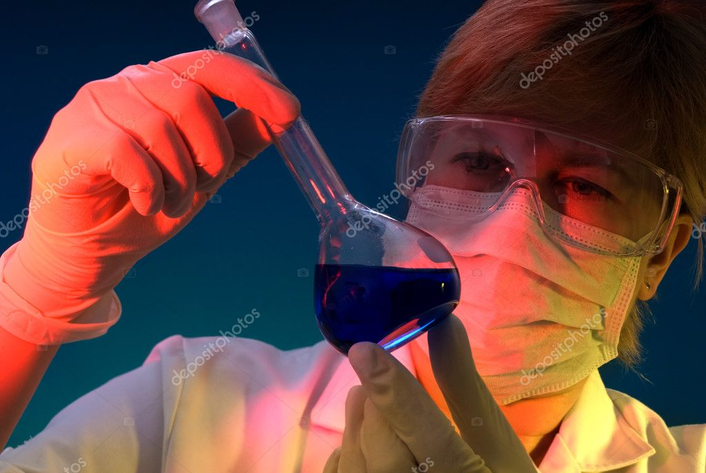 A science technician at work in the laboratory — Stock Photo #6859433