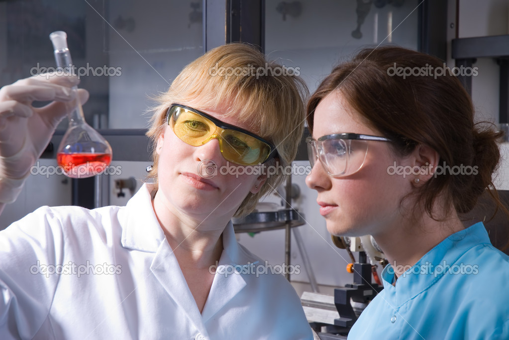 Working in laboratory   Stock Photo #6859460
