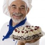 Attractive chef — Stock Photo