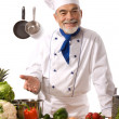 Attractive chef — Stock Photo #6861443