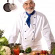 Stock Photo: Attractive chef