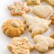 Christmas butter cookies - Stock Photo