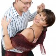 Attractive couple dancing - Stock Photo