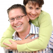 Portrait of a smiling couple having fun — Stock Photo