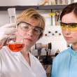 Scientists working at the laboratory — Stock Photo