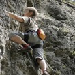 Climber on the rock - Foto Stock