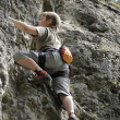 Climber on the rock — Stock Photo