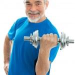 Senior hombre durante entrenamiento — Foto de Stock