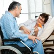 Senior couple in hospital — Stock Photo