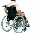 Stock Photo: Senior womin wheelchair