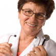 Portrait of a smiling female doctor — Stock Photo