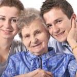 Grandmother with her grandchildren — Stock Photo