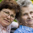 Senior woman with her home caregiver — Stock Photo #6869338