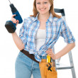 Stock Photo: Carpenter woman