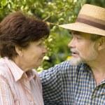 Romantic senior couple — Stock Photo