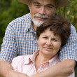 Stock Photo: Romantic senior couple