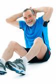 Exercício de abs — Fotografia Stock