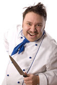 Frantic chef — Stock Photo