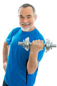 Senior man during workout — Stock Photo