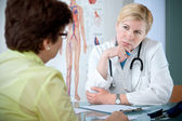 Listening to the patient — Stock Photo