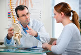 Physical Therapist with a patient — Stock Photo