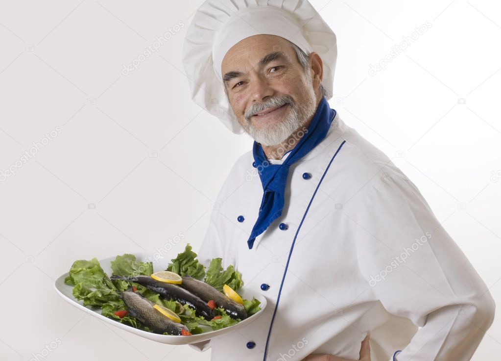 Portrait of a chef   Stock Photo #6861257