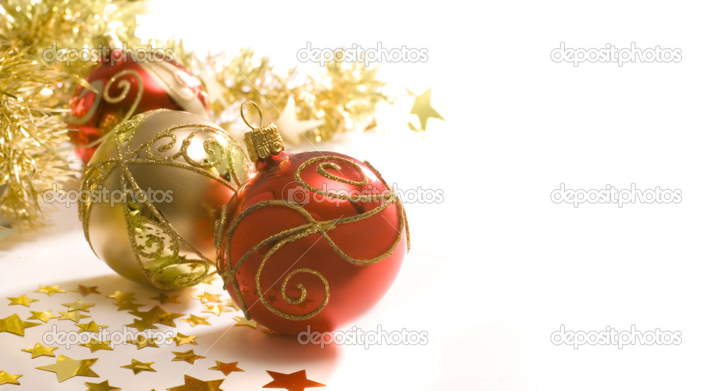 Christmas decoration isolated on the white background  — 图库照片 #6861557