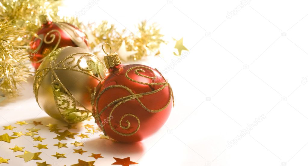 Christmas decoration isolated on the white background   Lizenzfreies Foto #6861557