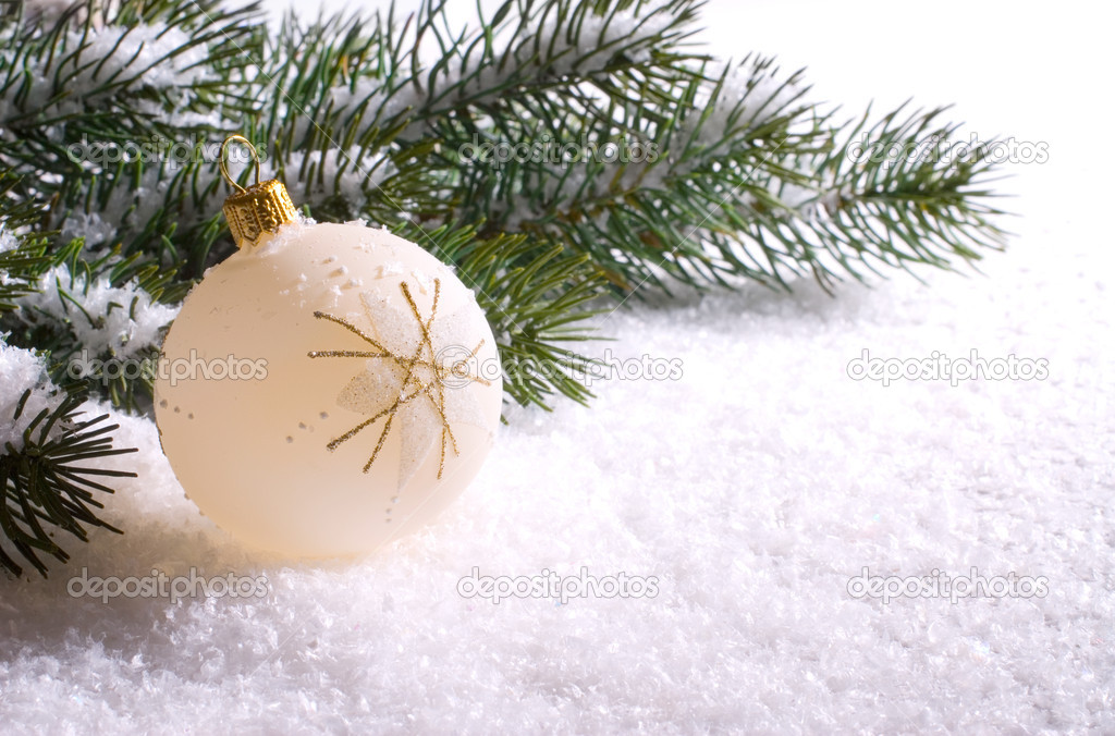 Christmas decoration isolated on the white background  — Stock Photo #6861605