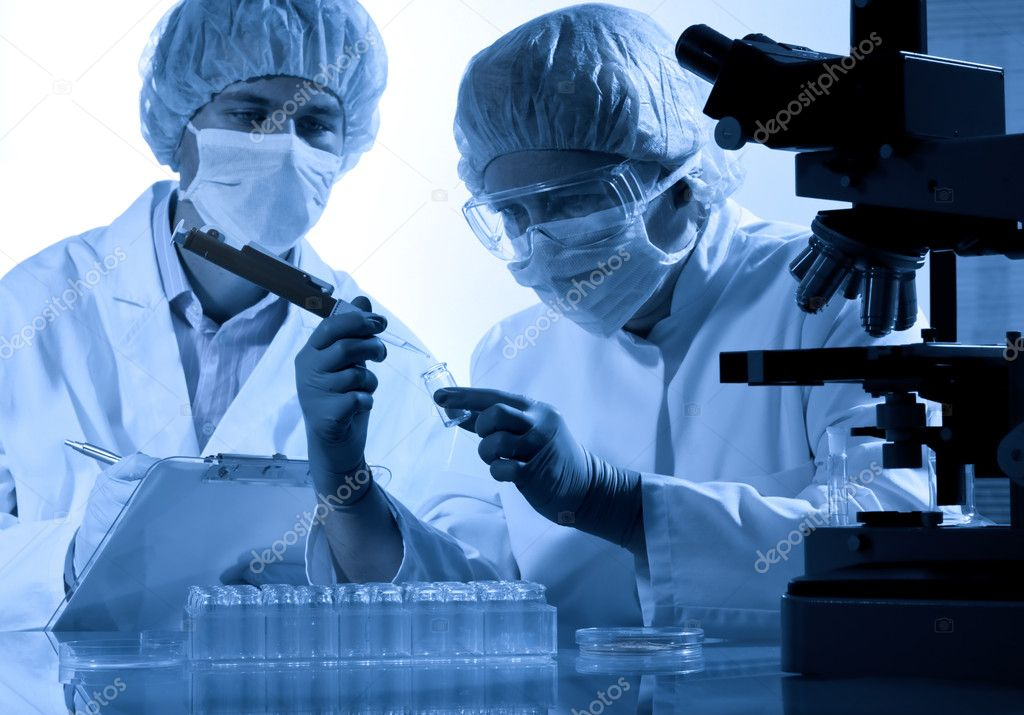Scientists at the laboratory  — Stock Photo #6862389