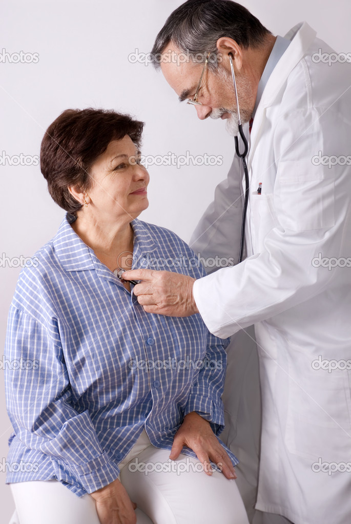 Patient is being observed by doctor  Stock Photo #6868849