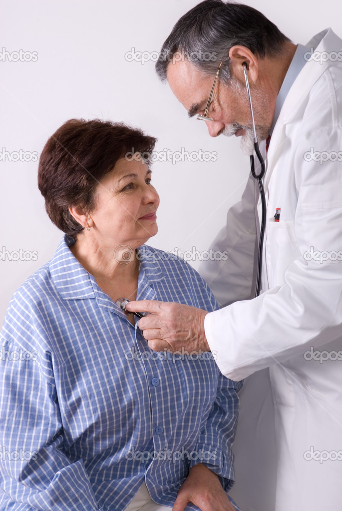 Patient is being observed by doctor  Stock Photo #6868852