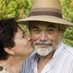 An attractive senior couple — Stock Photo