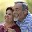 Portrait of romantic couple - Stockfoto