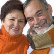 Happy elderly couple — Stock Photo