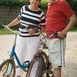 Royalty-Free Stock Photo: Senior couple cycling