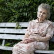 Woman on the park bench — Stock Photo #6870441