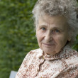 Elderly woman thinking — Stock Photo #6870443