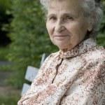Portrait of the elderly woman — Stock Photo #6870446