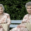 Two elderly women — Foto de Stock