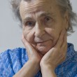 Portrait of the elderly woman — Stock Photo