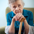Portrait of an elderly woman — Stockfoto