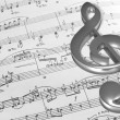 Music notes background — 图库照片