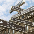Famous signpost in Paris — Stock Photo