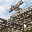 Famous signpost in Paris - 图库照片