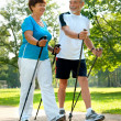 Nordic walking - Foto Stock